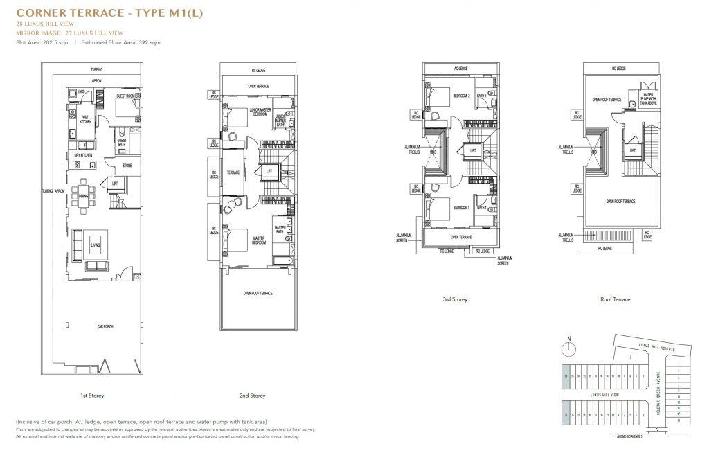 Luxus Hills Floor Plan 61002458 Singapore